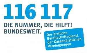 Rufnummer ärztlicher Bereitschaftsdienst 116117