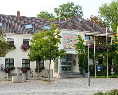 Rathaus der Gemeinde Kirchheim b. München