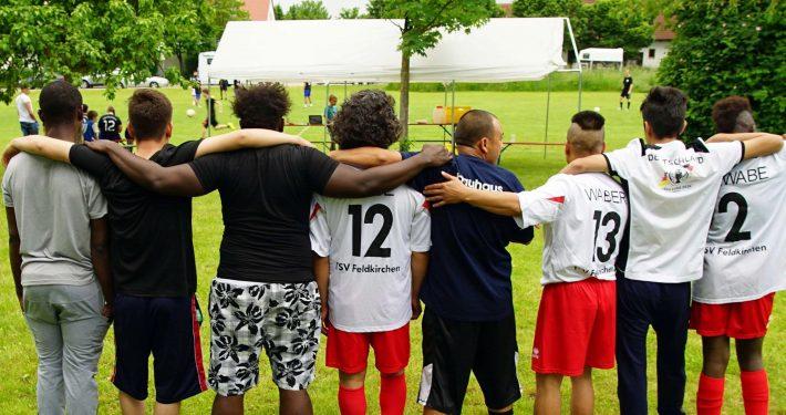 Fußballspiel beim JUZ