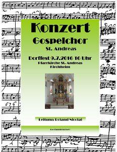 Plakat Gospelchor St. Andreas Dorffest