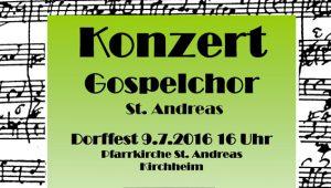 Gospelchor St. Andreas Dorffest