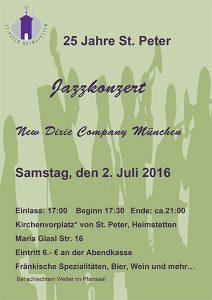 Plakat des Jazzkonzert St. Peter