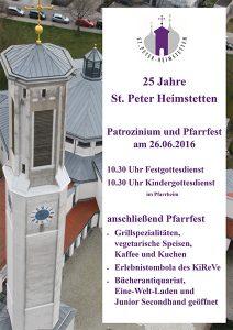 Plakat Patrozinium St. Peter