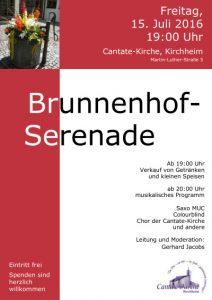Brunnenhof-Serenade 2016 Plakat