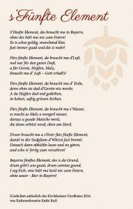 Gedicht anlässlich des Kirchheimer Dorffestes 2016 von Katharina Ruf