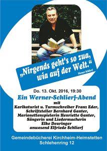 Werner-Schlierf-Abend Plakat