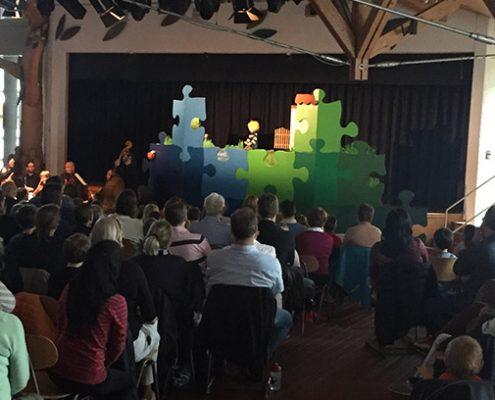 Peter und der Wolf beim Schulförderverein: Zum 40-jährigen Bestehen gab es ein musikalisches Märchen.