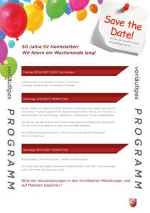 50 Jahre SV Heimstetten Festprogramm