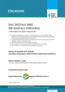 Einladung zum Vortrag des Bürgernetz München-Land e.V.