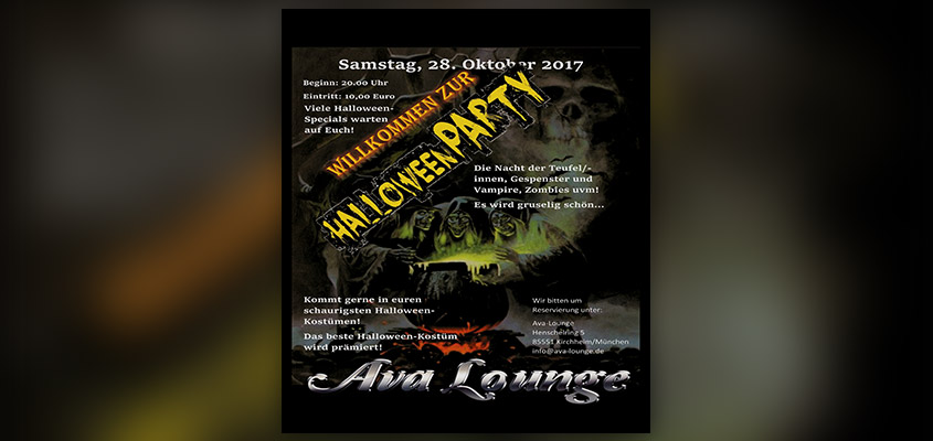 Halloween Party in der Ava Lounge
