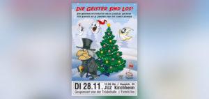 Die Geister sind los - Ein Weihnachtstheater nach Charles Dickens. Für Kinder ab 5 Jahren und die ganze Familie.