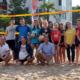 Beachvolleyball unter Palmen: Warum in die Ferne schweifen, der REZ-Strand, mit Sand, Sonne und Urlaubsfeeling ist so nah.