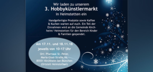 3. Hobbykünstlermarkt in Heimstetten