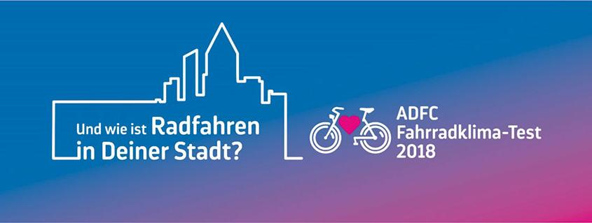 Schmuckbild zum ADFC Fahrradklima-Test 2018