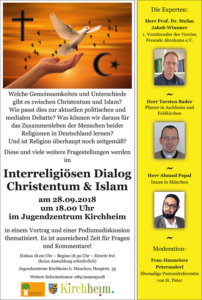 Interreligiöser Dialog Christentum und Islam 2018