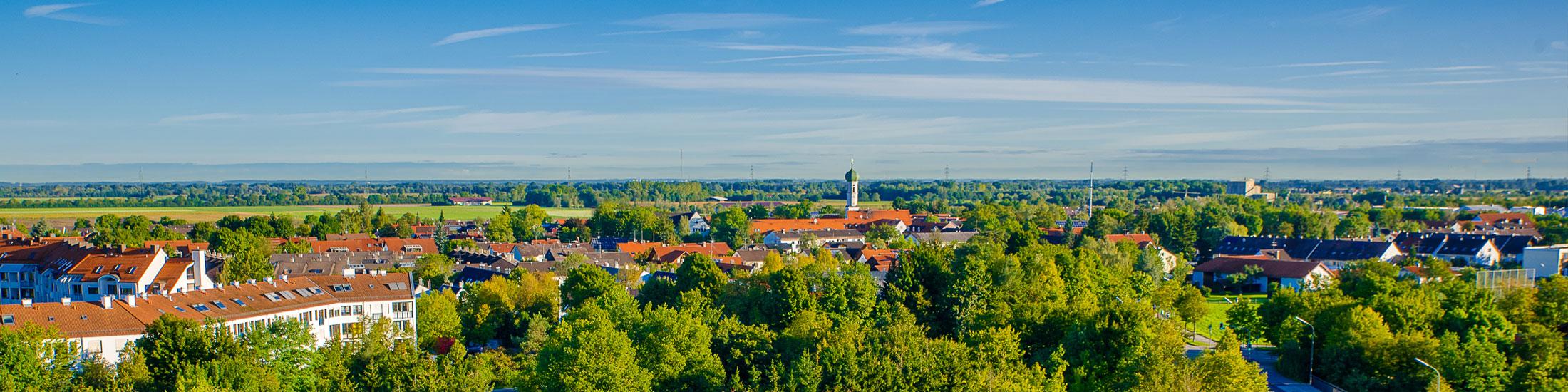 Panoramaaufnahme der Ortsteile Kirchheim und Hausen