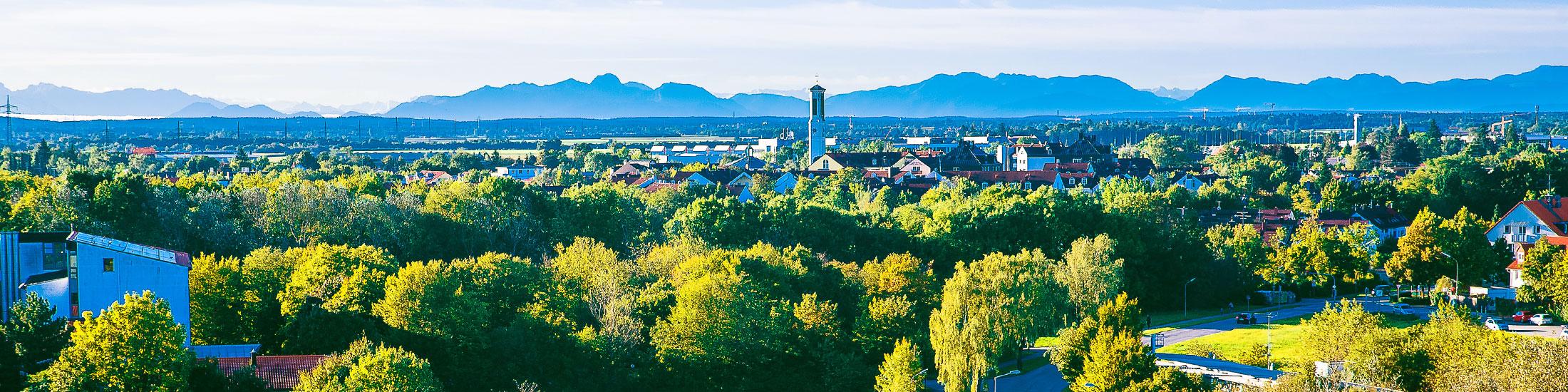 Panoramaaufnahme von Heimstetten