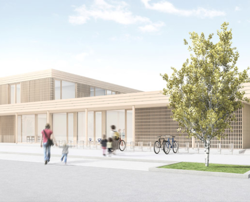 Ansicht des neuen Haus für Kinder