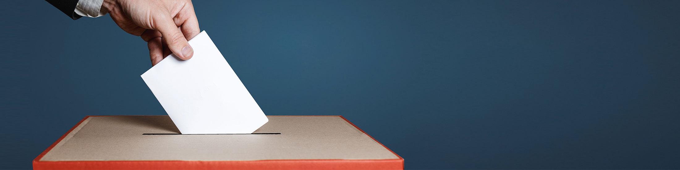 Wahl- und Abstimmungsschein beantragen
