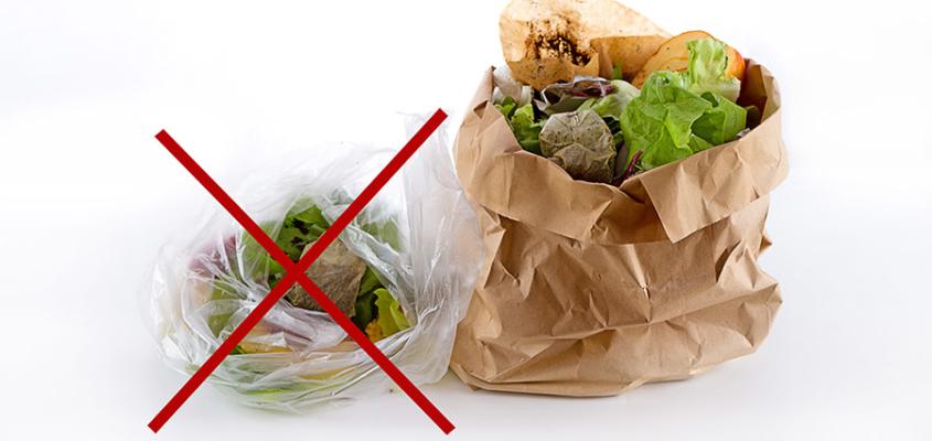 Bitte auf biologisch abbaubare Kunststoff-Müllbeutel verzichten
