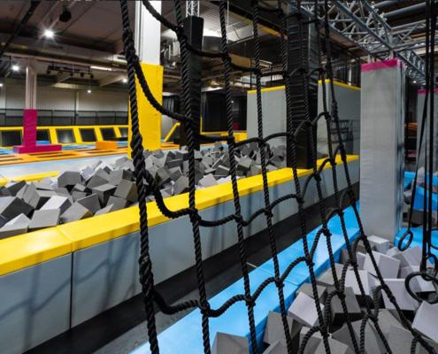 Ninja Parkour und Trampolinarena in der MAXX-Arena Kirchheim