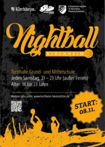 Flyer zum Sportangebot Nightball Kirchheim