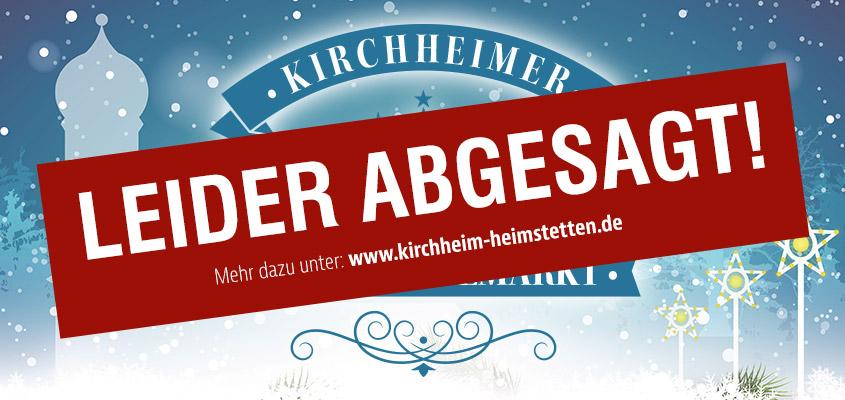 Der Kirchheimer Christkindlmarkt 2018 musste leider abgesagt werden.