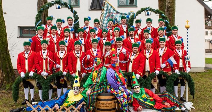 Gruppenfoto der Schäfflerzunft Kirchheim 2019