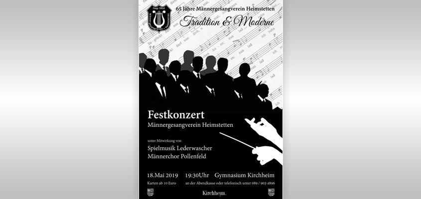 Festkonzert zum Jubiläum - 65 Jahre Männergesangverein Heimstetten