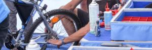Kostenloser Fahrradcheck der AGFK beim Dorffest