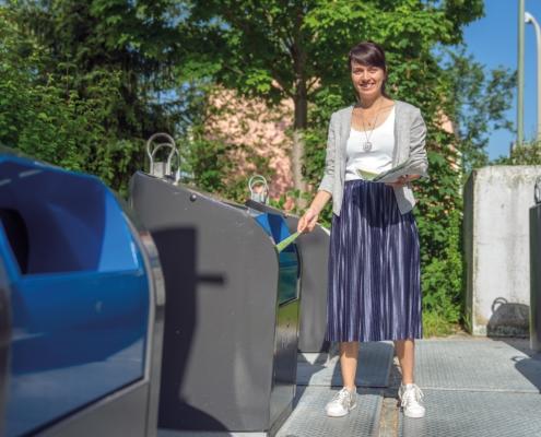 Mülltrennung: Sonja Forstner, Sachgebietsleiterin der Abteilung