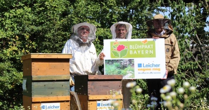 Die Firma Leicher Engineering ist nun Teil des Blühpakts Bayern: