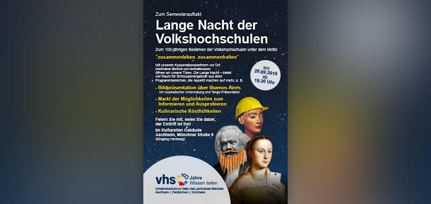 Lange Nacht der Volkshochschulen 2019