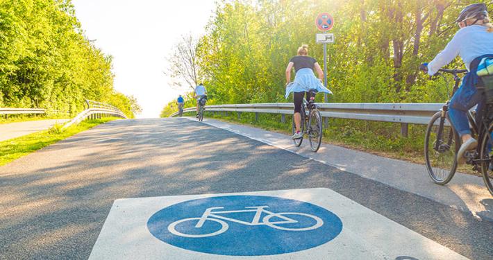 Fahrradstraßen in der Gemeinde Kirchheim
