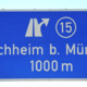 Autobahn-Ausfahrt Kirchheim b. München. Foto: Elke Hötzel – stock.adobe.com