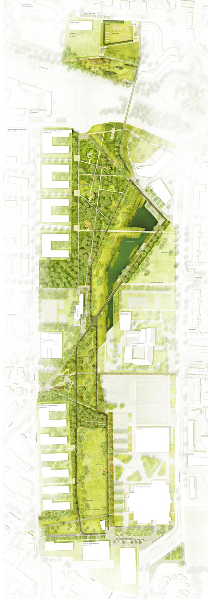 Parkplan Landesgartenschau - Grafik: Sinai Gesellschaft von Landschaftsarchitekten MbH