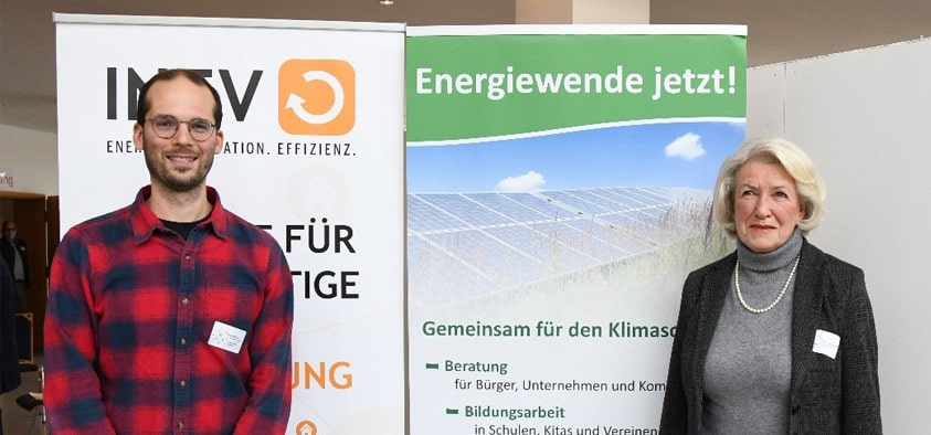 Teilnahme von Marianne Hausladen 3. Bürgermeisterin und Robert Maier Leiter Sachgebiet Umwelt, Energie und Abfallwirtschaft an der Auftaktveranstaltung zum Kommunalen Energieeffizienz-Netzwerk Ebersberg-München (Quelle: Energieagentur Ebersberg-München)