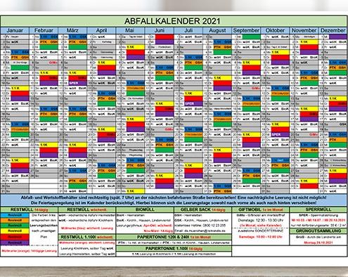 Der Abfallkalender 2021 der Gemeinde Kirchheim b. München steht nun zum Download bereit.