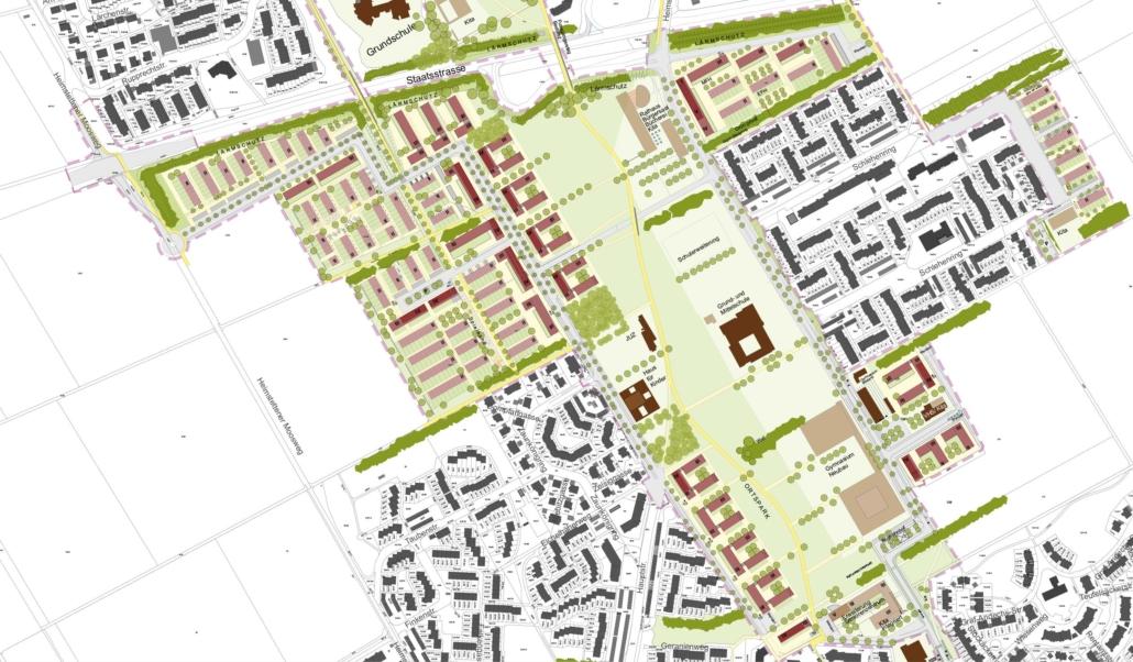 Baustruktur Kirchheim 2030 (Grafik: Zwischenräume Architekten und Stadtplaner GmbH)