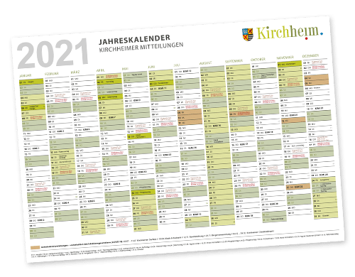 KiMi-Jahreskalender 2021