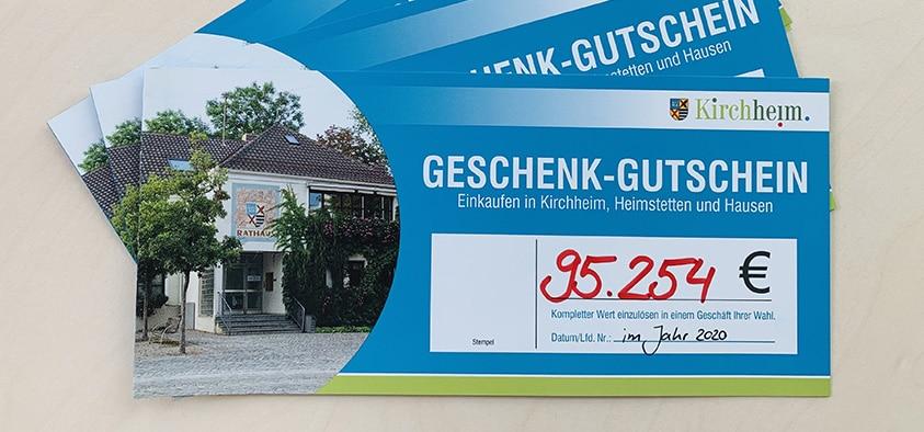 Foto vom Kirchheimer Geschenk-Gutschein