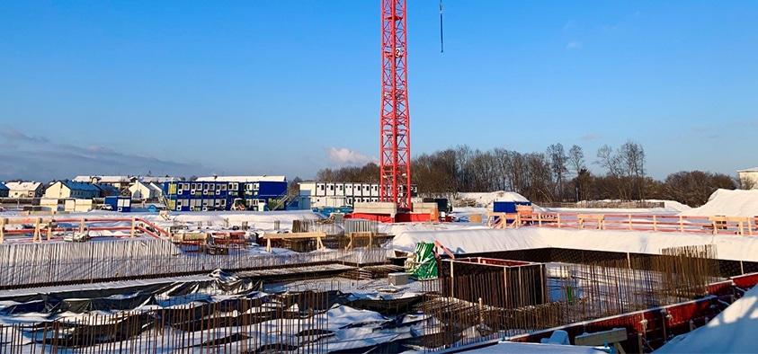 Foto: Baustelle für den Gymnasium-Neubau