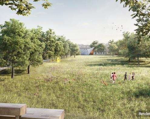 Foto: Rendering des neuen Ortsparks