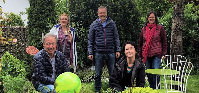 Foto: Gründungsmitglieder des Freundeskreis Landesgartenschau 2024